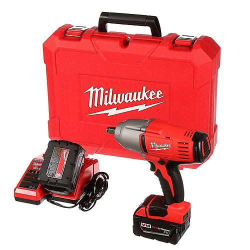 Milwaukee Tool M18 18-Volt Lithium-Ion Cordless 1/2-Inch Impact Wrench W/ (2) 3.0Ah Batteries & Hard Case