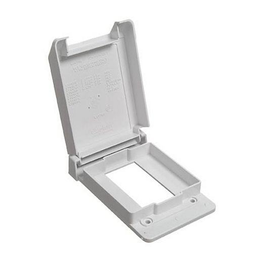 Carlon Weatherproof Single Gang GFI Vertical PVC Cover White