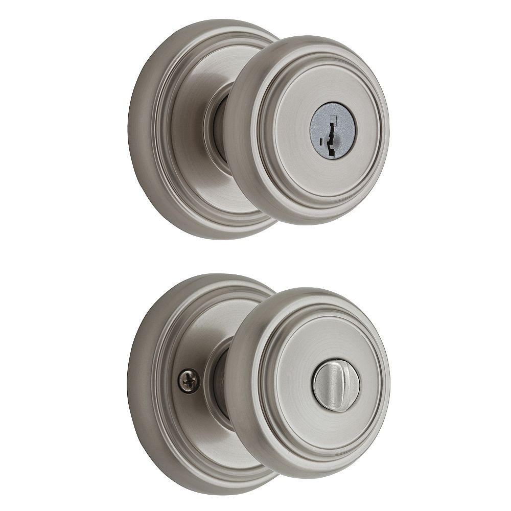 Weiser Wickham Satin Nickel Keyed Entry Knob with SmartKey