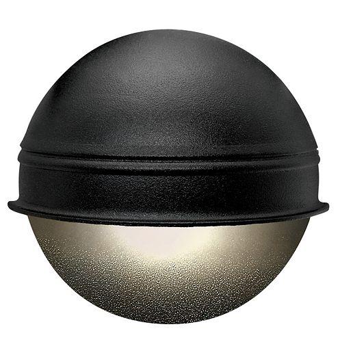 12V LowVage 7W Black Round Deck Light