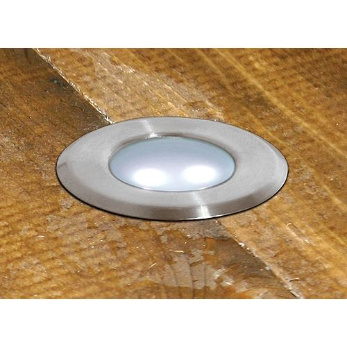 Hampton Bay 12V LowVage 8-Light Stainless Steel LED Deck Light Kit