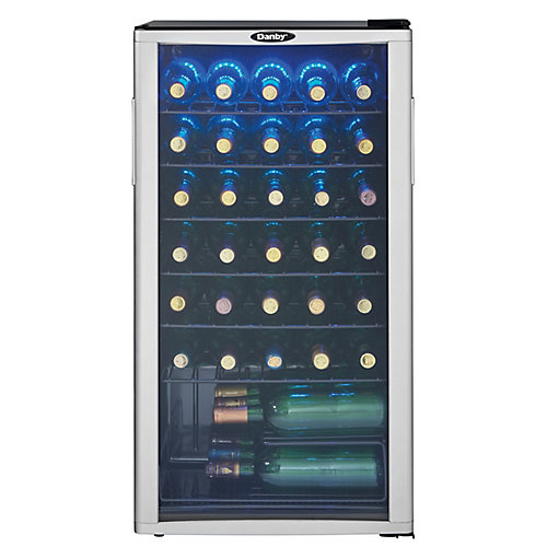 35-Bottle Wine Cooler with LED-Lit Interior