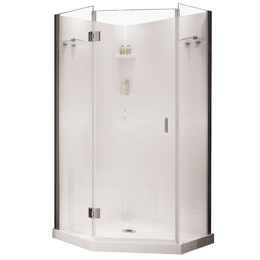 MAAX Yarrow Neo-Angle Polystyrene Frameless Shower Kit