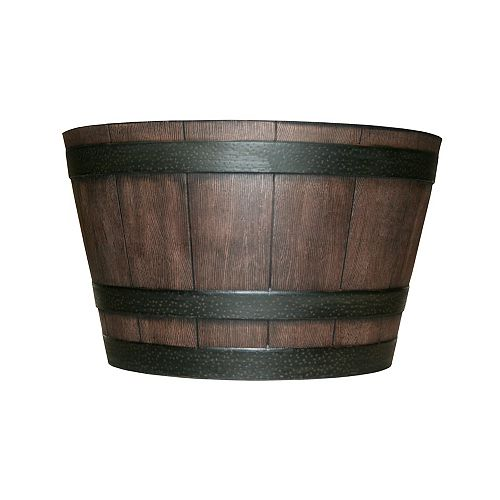 22 1/2-inch Finished Resin Whiskey Barrel