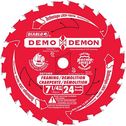 Diablo Lame Demo-Demon 7-1/4 po