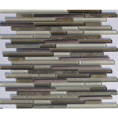 Home Decorators Collection Glass/Stone/Copper Mix Mosaic Tile