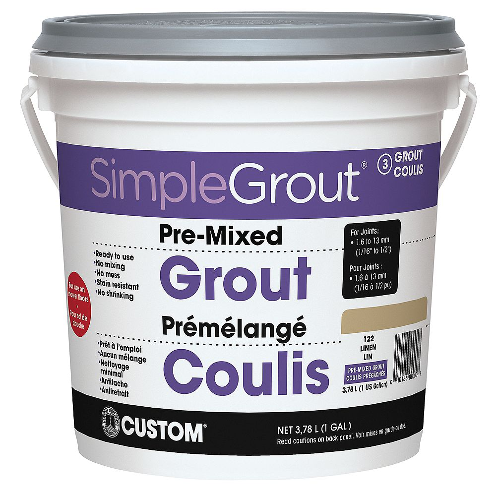 Custom Building Products #122 Linen - Pre-Mixed Grout 3.9L