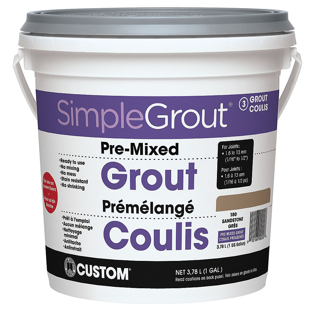 Custom Building Products #180 Sandstone - Pre-Mixed Grout 3.9L