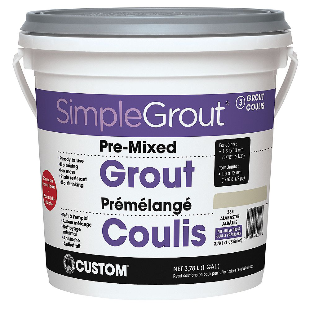 Custom Building Products #333 Alabaster - Pre-Mixed Grout 3.9L
