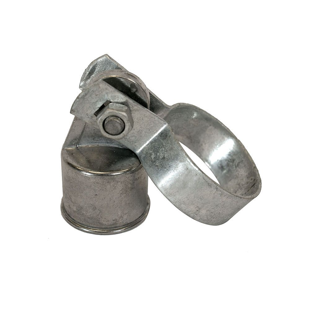 Peak Products Aluminum Chain Link Rail End Assembly (1 7/8-inch Main Post Band and 1 3/8-inch Top Rail Cap)