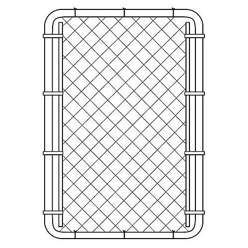 Barrière pour clôture de maille de chaînes - 60 pouces hauteur x 42 pouces largeur - Noir