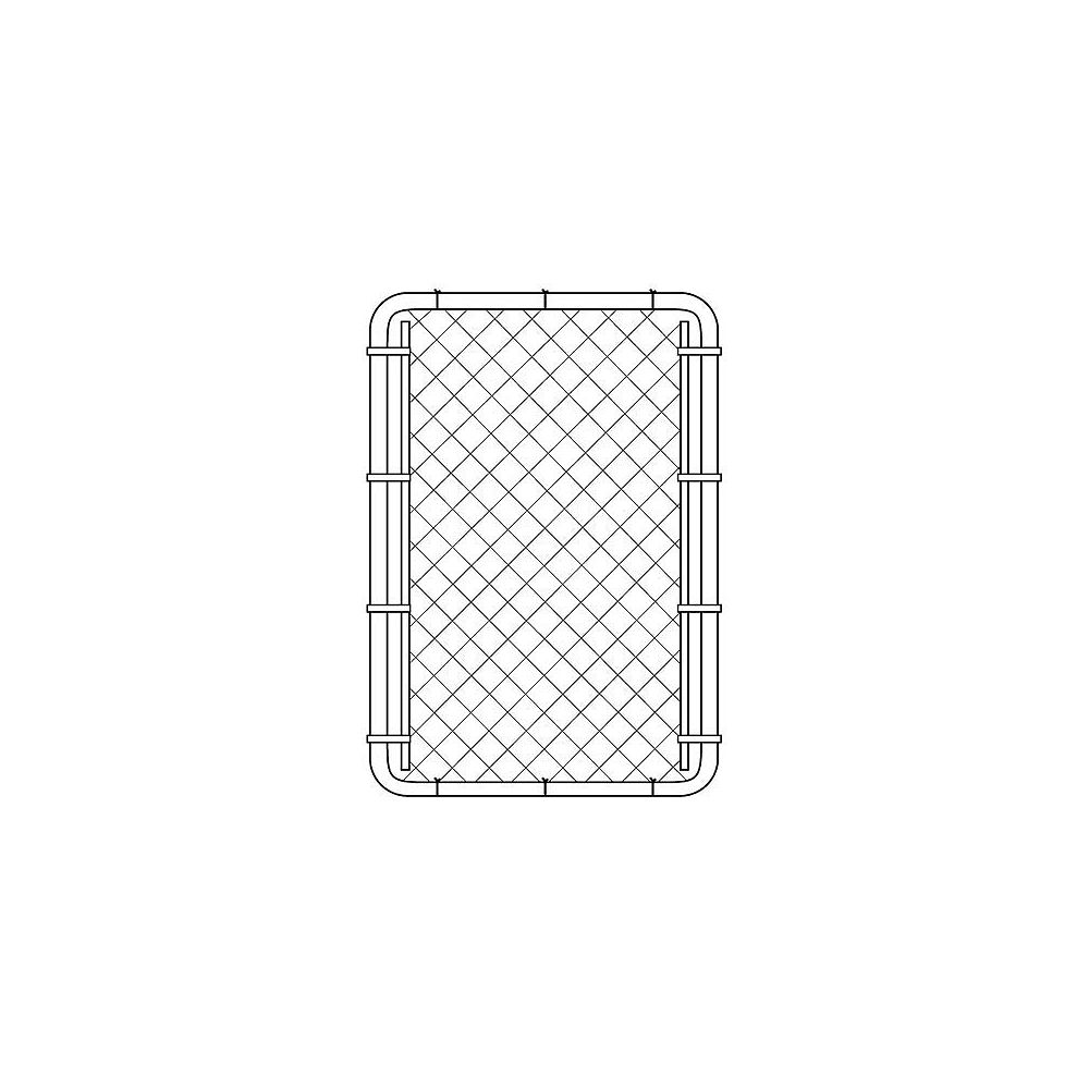 Peak Products 3 1/3 ft. W x 5 ft. H x 1 3/8-inch D Steel Chain Link Fence Gate in Black with 2-inch Mesh Opening
