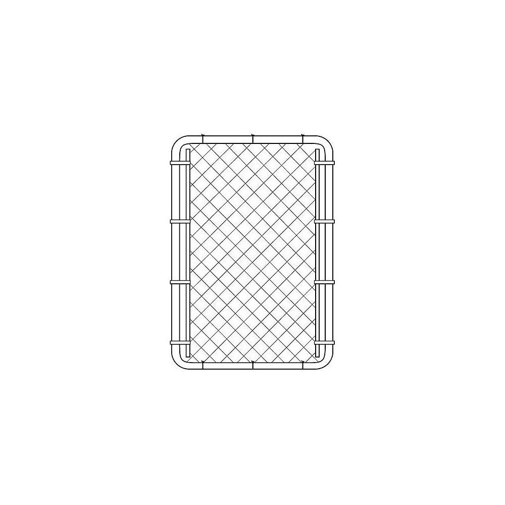 Peak Products Barrière pour clôture de maille de chaînes - 60 pouces hauteur x 42 pouces largeur - Noir