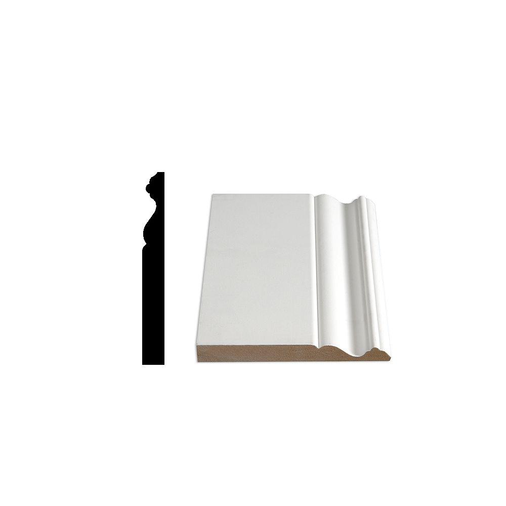 Alexandria Moulding 5/8-inch x 5 9/16-inch MDF Painted Decosmart Fibreboard Baseboard Moulding