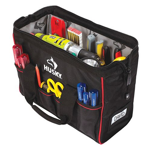 Husky 14-inch Large Mouth Tool Bag