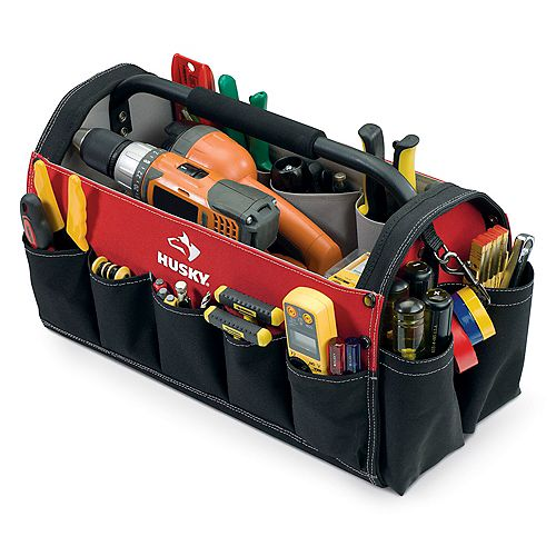 Husky 17-inch Open Tool Tote