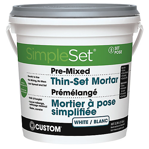 Pre-Mixed Tile & Stone Thin-Set Mortar - White 3.9L