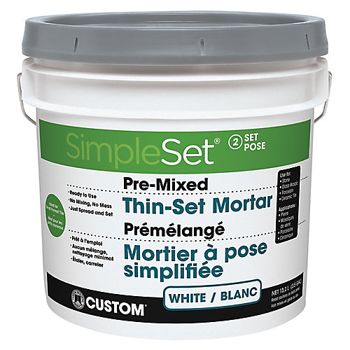 Pre-Mixed Tile & Stone Thin-Set Mortar - White 15.9L