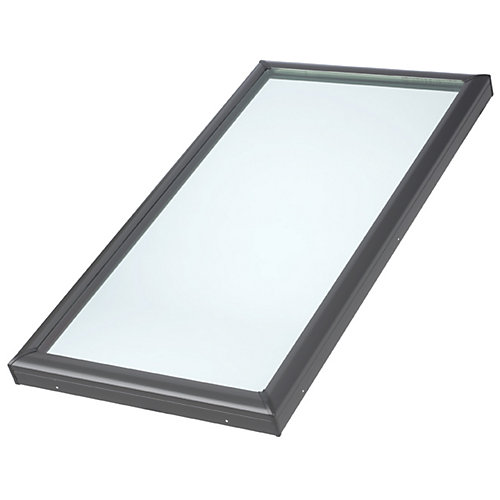 22-1/2-inch x 46-1/2-inch Fixed Curb-Mount Skylight with Tempered Low-E3 Glass - ENERGY STAR®