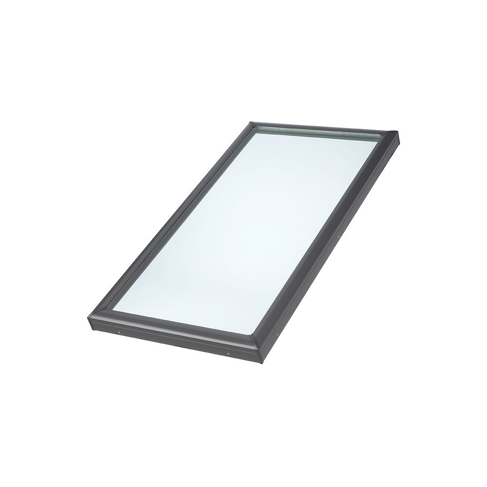 VELUX 22-1/2-inch x 46-1/2-inch Fixed Curb-Mount Skylight with Tempered Low-E3 Glass - ENERGY STAR®