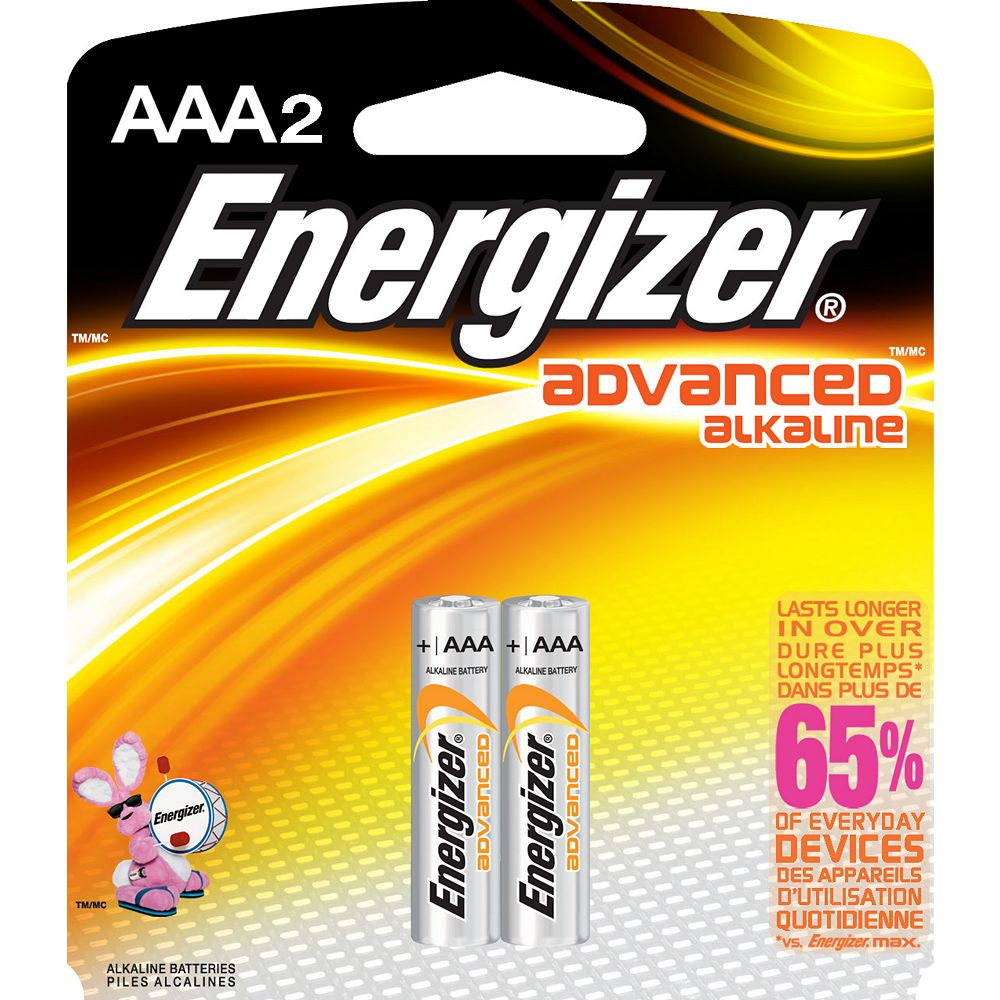 Energizer Advanced Alkaline AAA Battery - (2-Pack)
