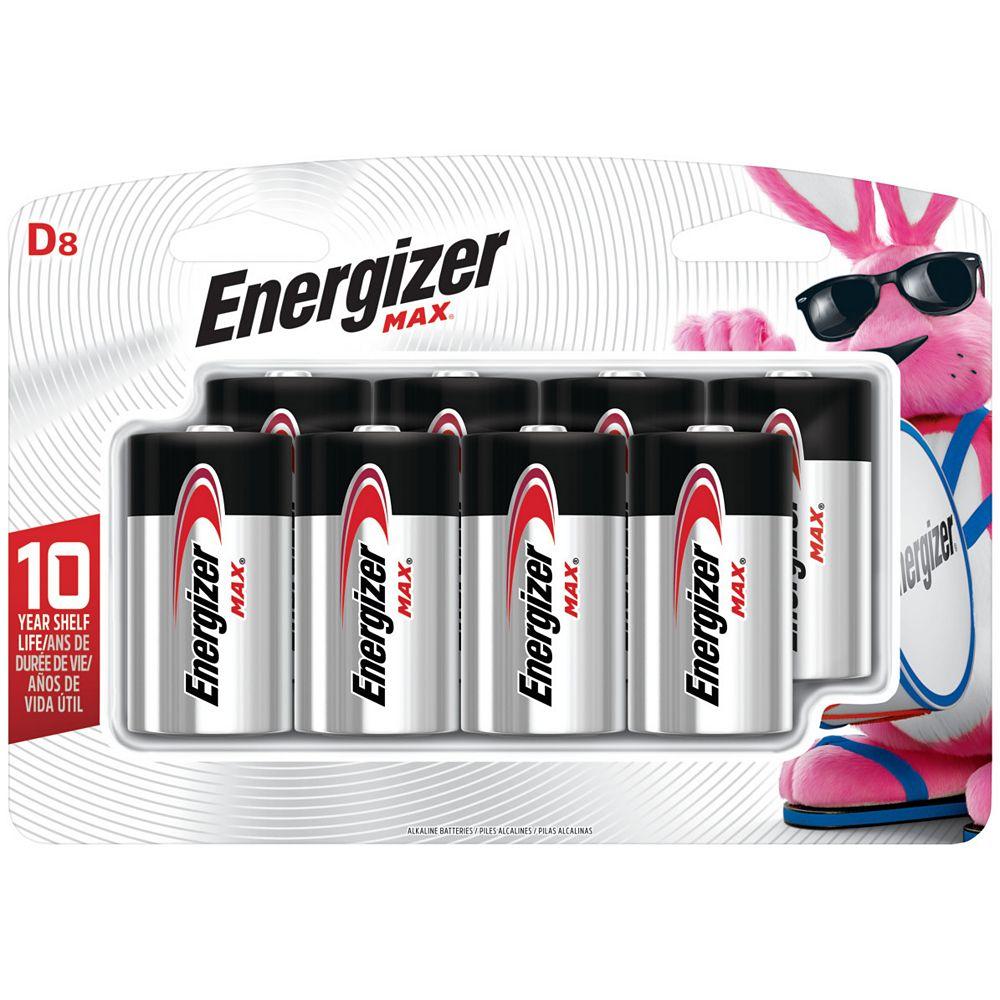 Energizer Energizer MAX Alkaline D Batteries, 8 Pack