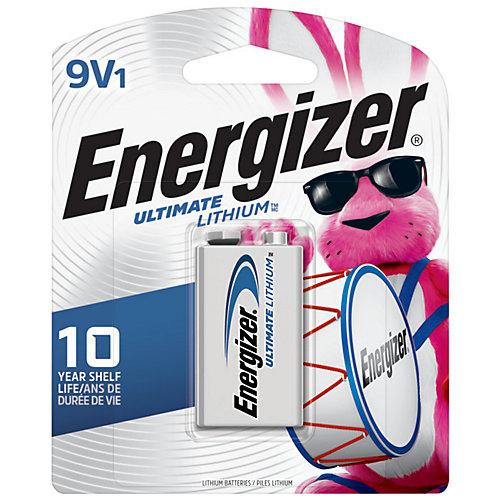 Energizer Ultimate Lithium 9V Batteries, 1 Pack