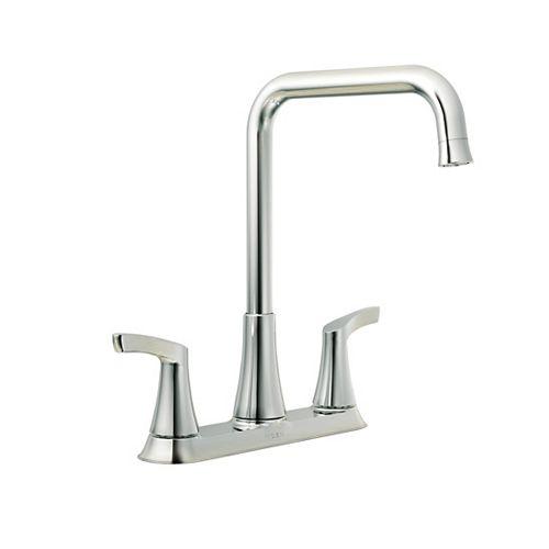 Danika 2-Handle Kitchen Faucet in Chrome