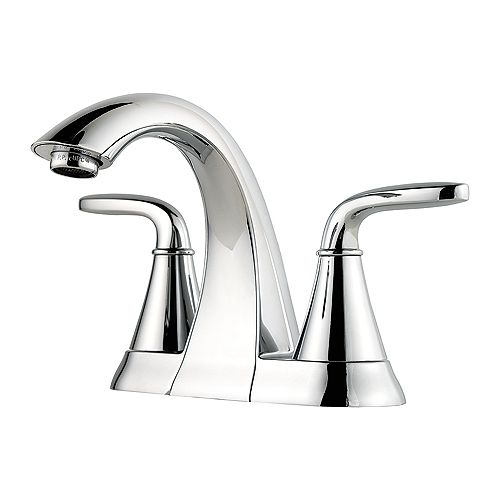 Pasadena Centerset (4-inch) 2-Handle Mid Arc Bathroom Faucet in Chrome with Lever Handles