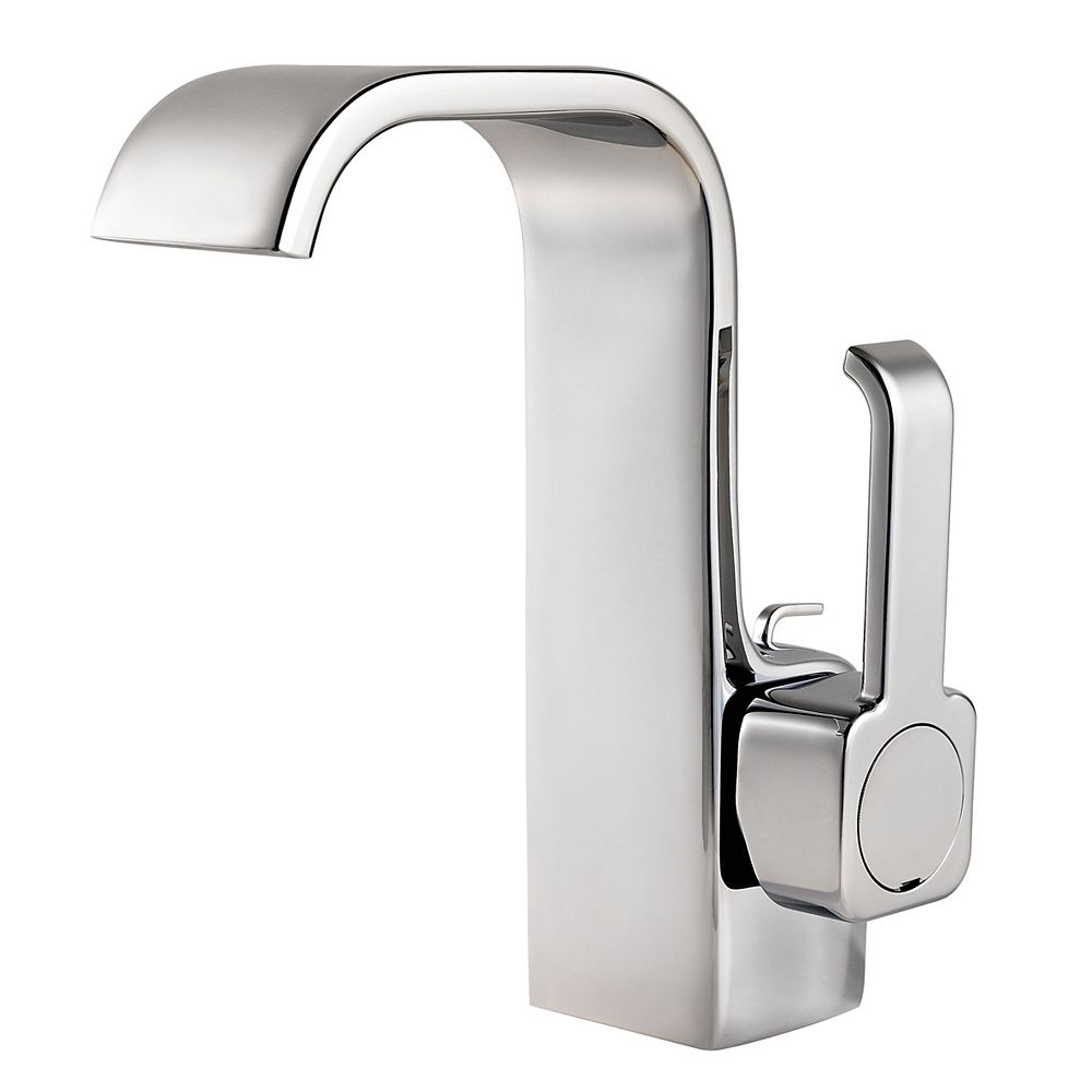 Pfister Skye Single Hole 1-Handle High Arc Waterfall-Flow Bathroom Faucet in Chrome with Lever Handle