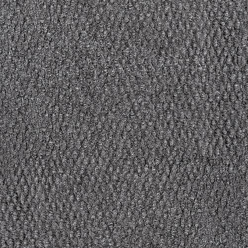 Grey 12 ft. x Custom Length Indoor/Outdoor Contemporary Square Area Rug