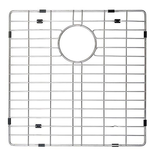 Kraus Stainless Steel Bottom Grid w/Protective Anti-Scratch Bumpers for KHF203-36 Kitchen Sink Left Bowl