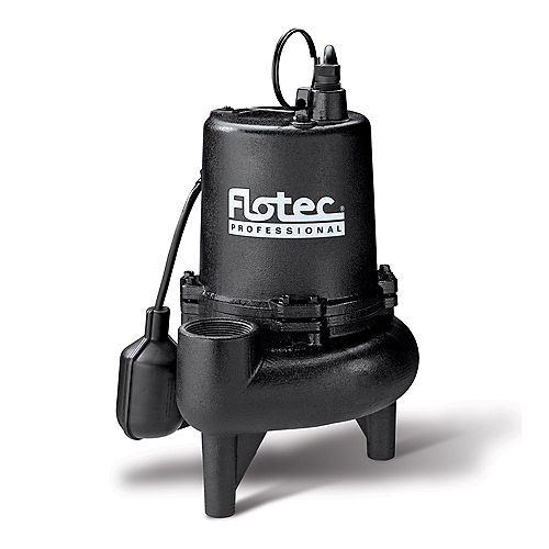 Sewge Pump, 3/4 Horsepower  Cast Iron Professional