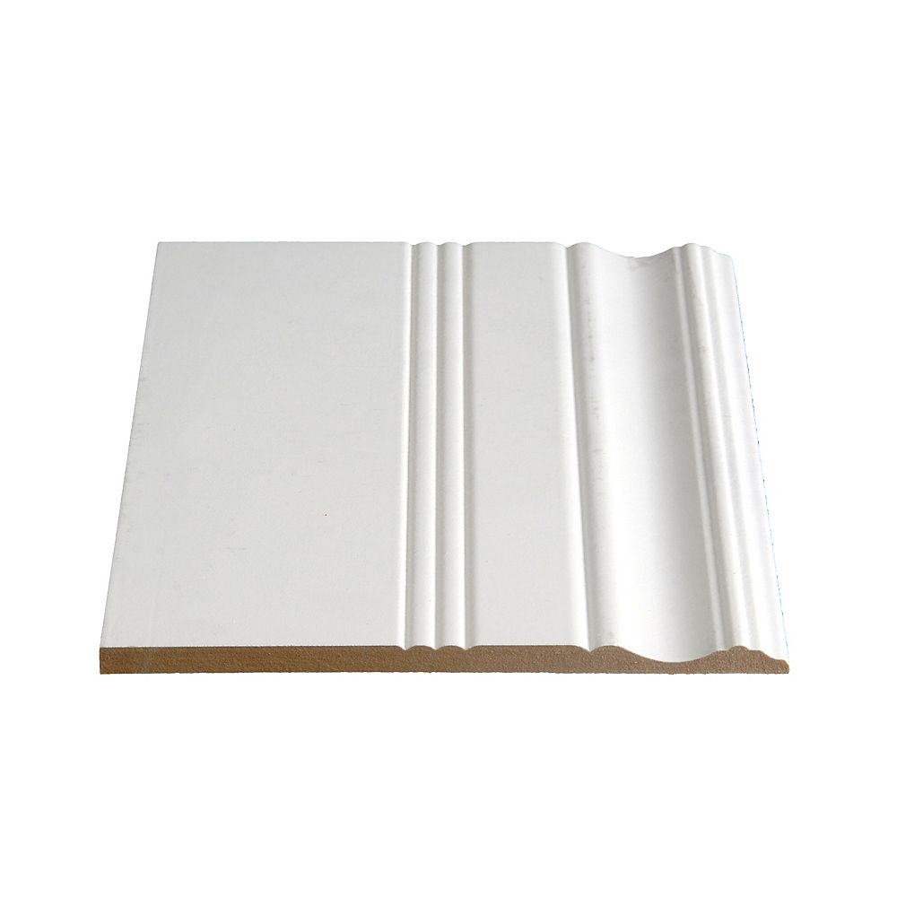 Alexandria Moulding 3/8-inch x 7 3/8-inch MDF Painted Decosmart Baseboard Moulding