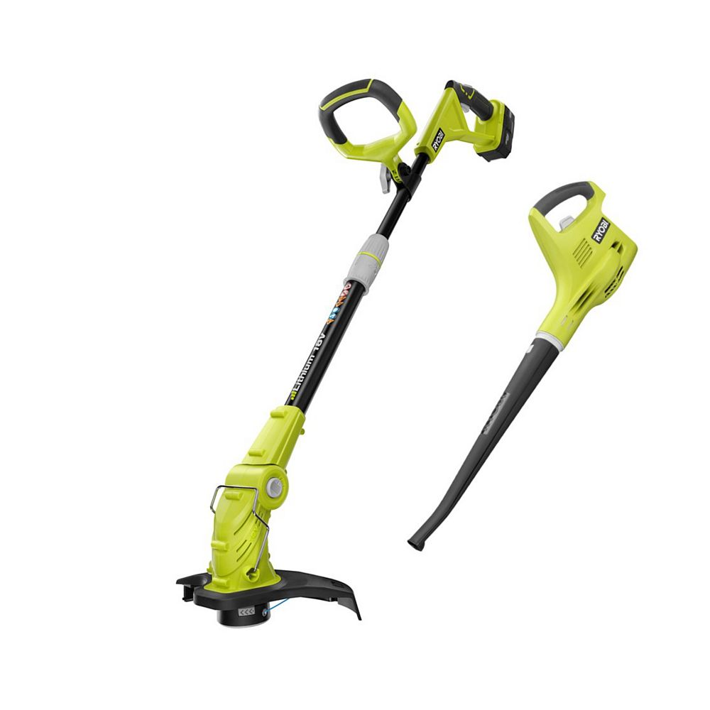 RYOBI 18V ONE+ Lithium-ion String Trimmer and Cordless Blower Combo Kit