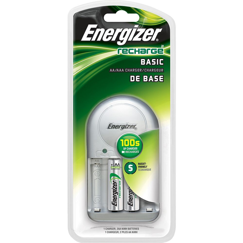 Energizer Value Charger w/ 2 AA's