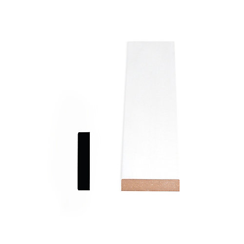 Cadrage en MDF avec peinture DécoSmart 5/8 po x 2-1/2 po x 8 pi