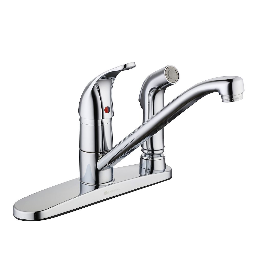 Glacier Bay 3000 Series Kitchen Faucet With Side Spray In Chrome The Home Depot Canada