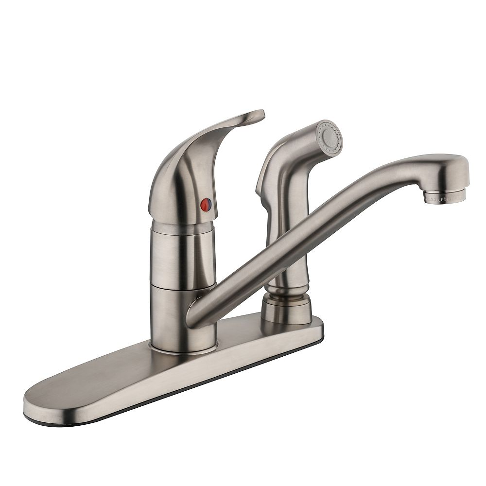 Glacier Bay 3000 Series Kitchen Faucet with Side Spray in Brushed Nickel