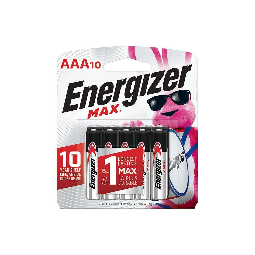 Energizer Energizer MAX Alkaline AAA Batteries, 10 Pack