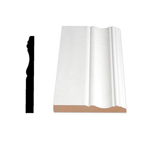 1/2-inch x 4 1/8-inch Colonial MDF Painted Decosmart Fibreboard Baseboard Moulding