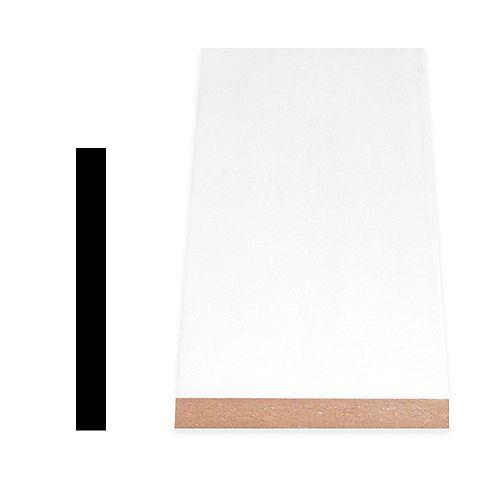 Alexandria Moulding 5/8-inch x 5 9/16-inch Modern MDF Painted Decosmart Fibreboard Baseboard Moulding