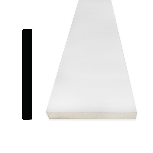 Plinthe en MDF avec peinture DécoSmart 1/2 po x 3-1/2 po x 8 pi