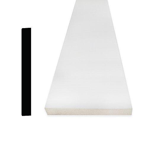Alexandria Moulding 1/2-inch x 3 1/2-inch x 96-inch Modern MDF Painted Decosmart Fibreboard Baseboard Moulding