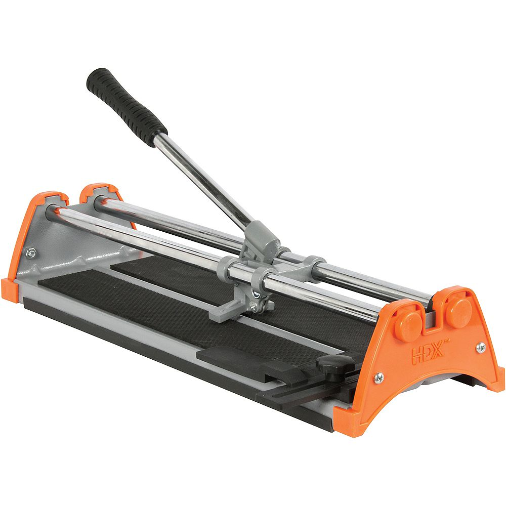 Hdx 14 Inch Manual Tile Cutter With 1 2 Inch Cutting Wheel The Home Depot Canada