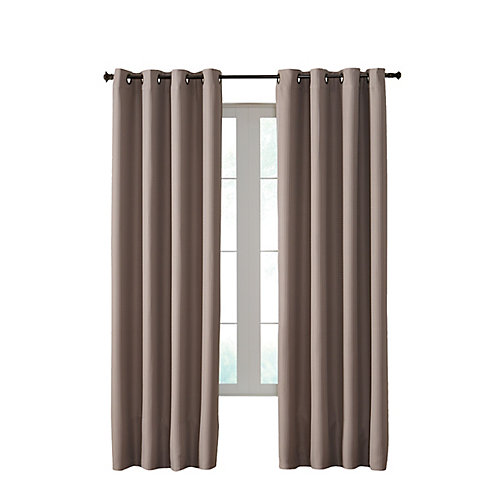 Darcy Insulated Curtain, Taupe - 54 Inches X 95 Inches