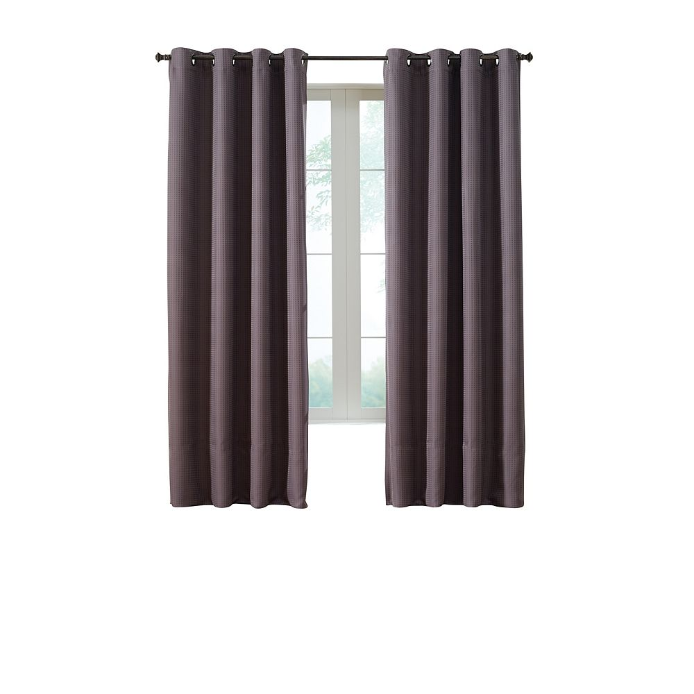 Home Decorators Collection Darcy Insulated Curtain, Brown - 54 Inches X 95 Inches