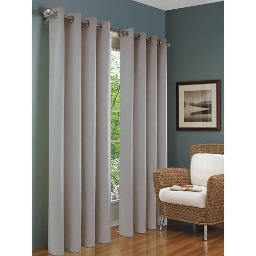 Brooks Insulated Curtain, Grey - 54 Inches X 84 Inches