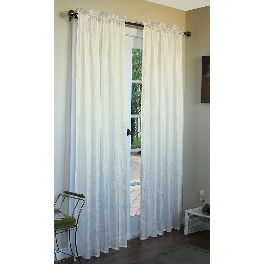 Home Decorators Collection Curtain, Ivory - 48 Inches X 84 Inches