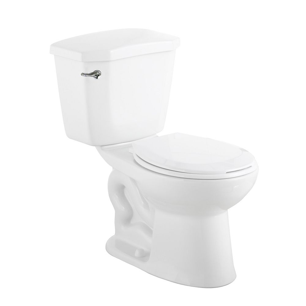 Glacier Bay Premier 2-Piece 6.0 LPF Single Flush Round 28.86-inch Standard Toilet Bowl in White
